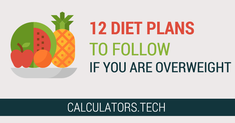 12 Diet Plans To Follow If You Are Overweight